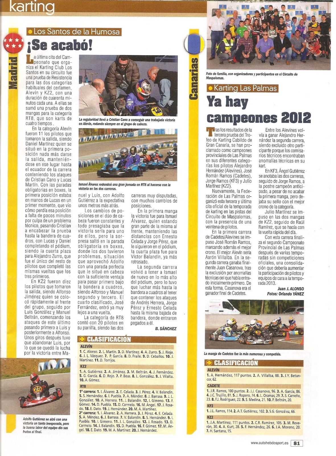 Circuito Karts Santos De La Humosa : Ckrc championship kart renting castilla karting enero