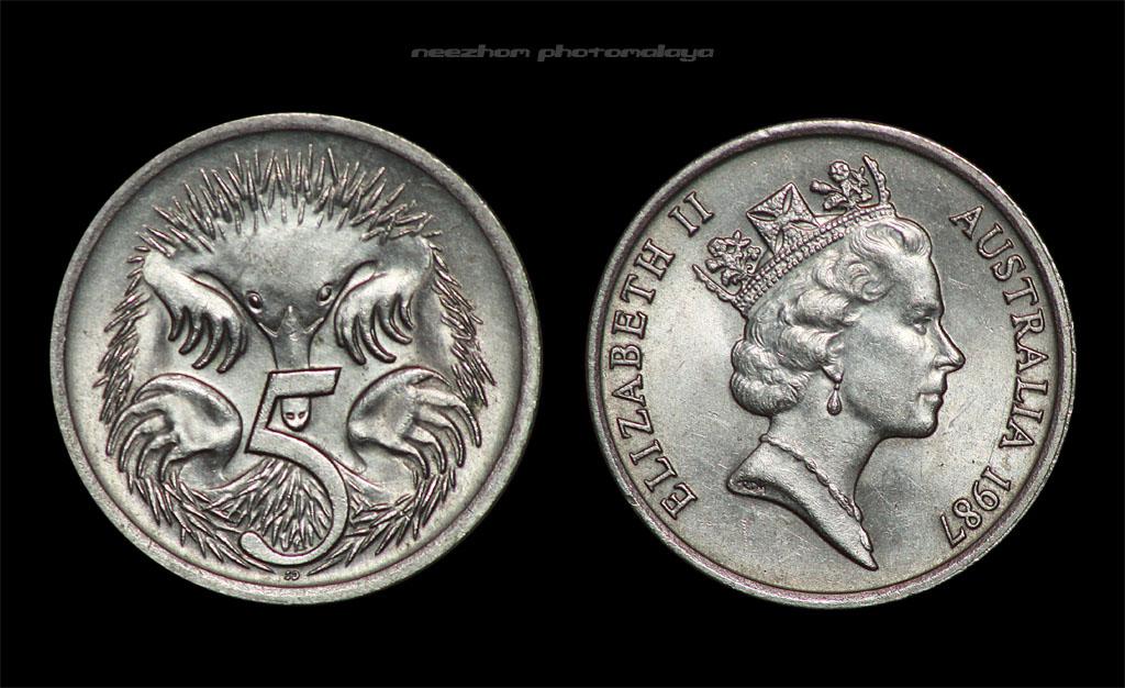 Australia 5 cents 1987 coin