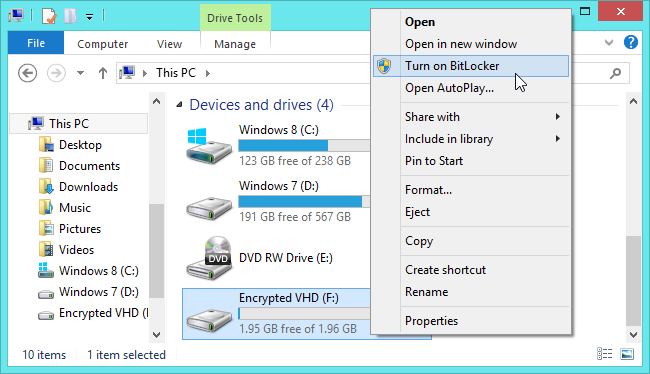 Bitlocker di Windows 8.1
