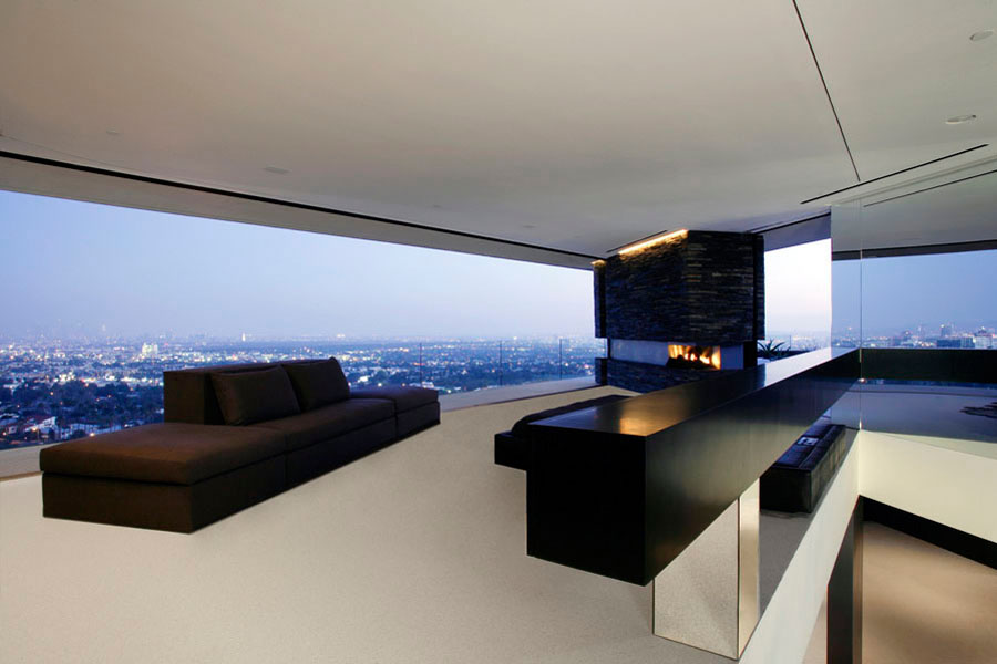 Modern hollywood mansion openhouse by xten architecture for Minimalist house california