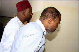 Nnamdi Kanu being led into the court