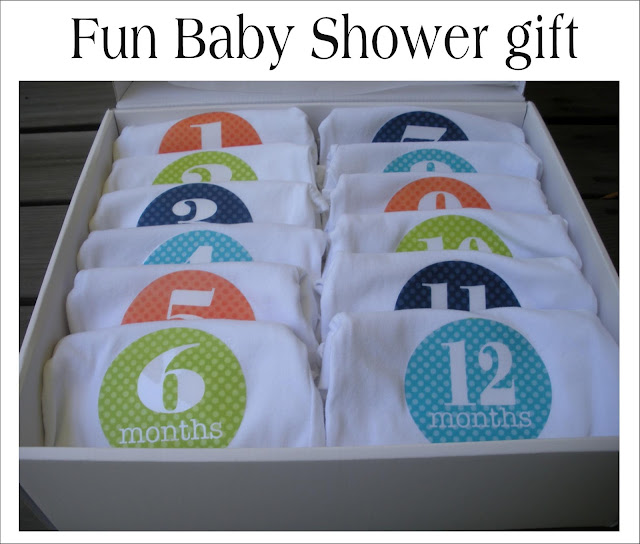 great gift for the mom to be put the appropriate onesie on your baby