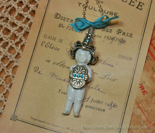 True Blue Frozen Charlotte Doll Pendant
