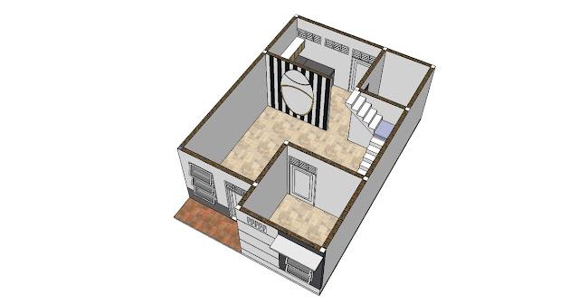 Desain Rumah Minimalis 6 x 9 m Lantai 1