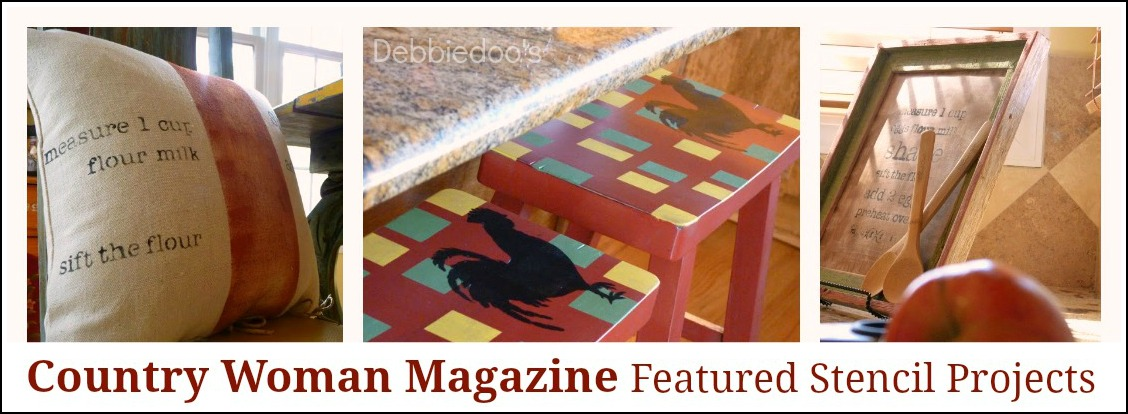 Country woman magazine diy stenciled craft project for Country woman magazine crafts