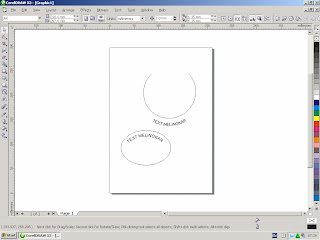 membuat text melingkar corel draw