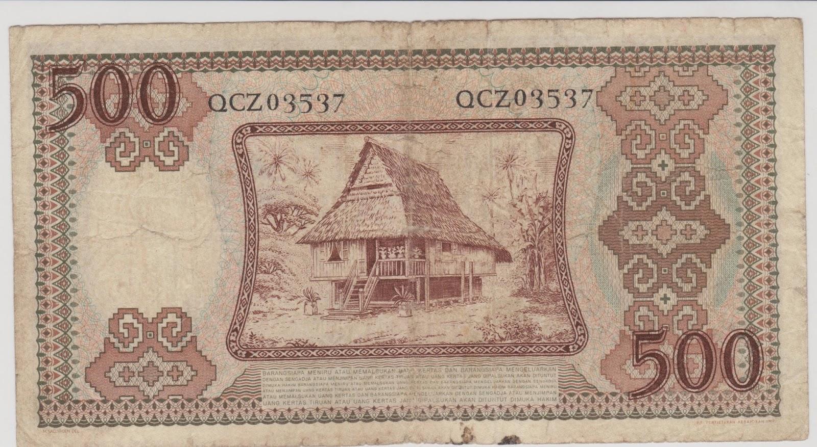 500 Rupiah Pekerja Tahun 1958