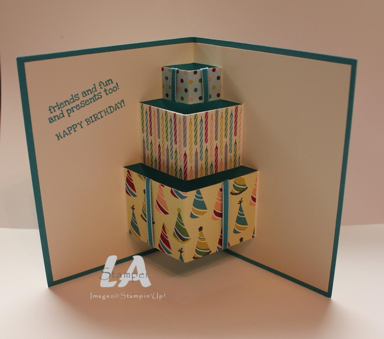 La Stamper Birthday Basics Pop Up Presents Card