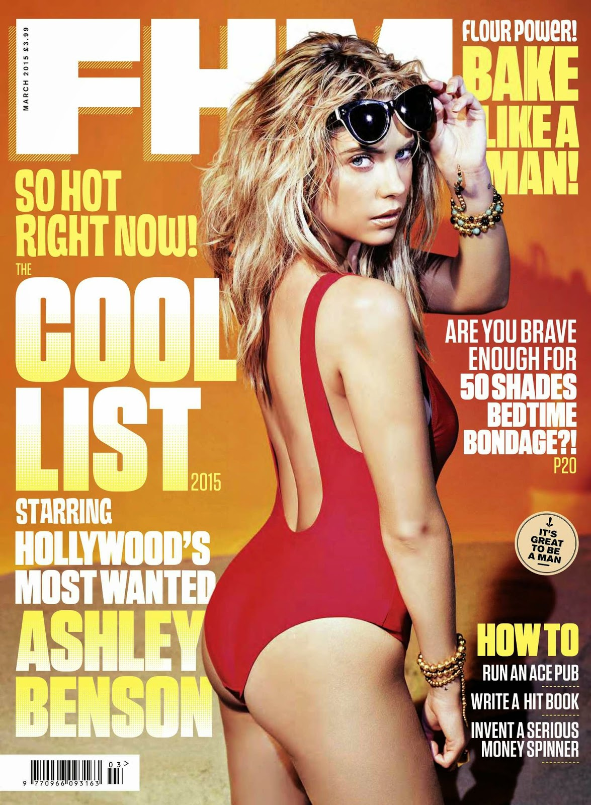 Actress, Model: Ashley Benson for FHM UK