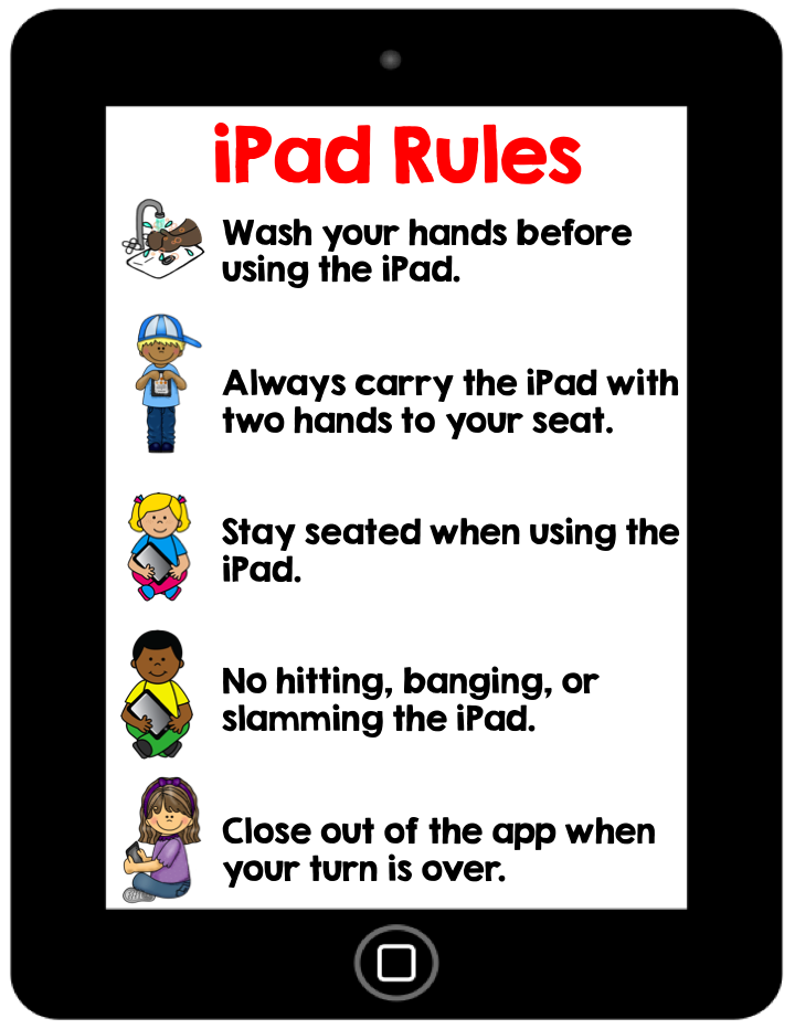 iPad rule, iPads in kindergarten