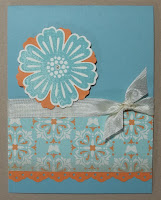 Card made with Stampin'UP!'s new blossom punch and Mixed Bunch Stamp Set