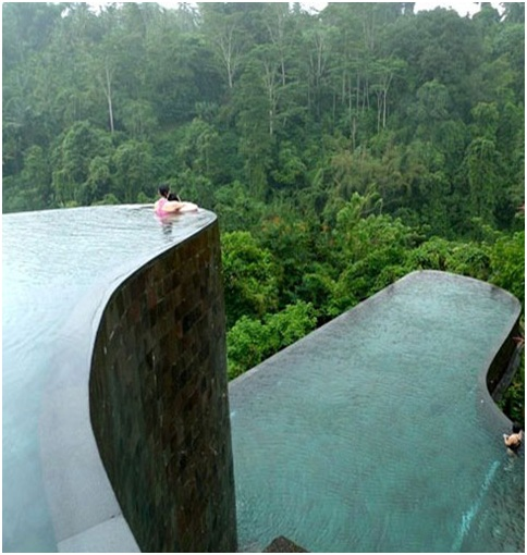 Awesome swimming pool in contact with nature