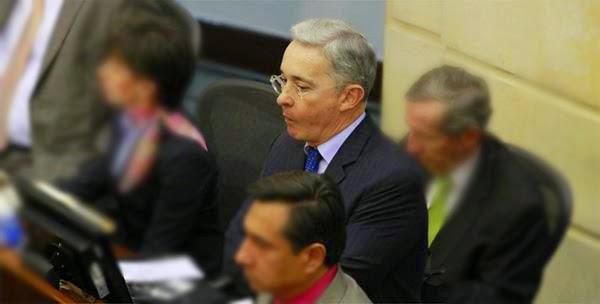 Álvaro Uribe Vélez en el Senado.