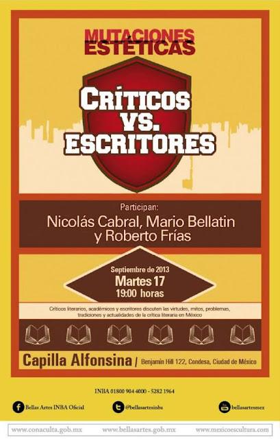 "Mutaciones estéticas presenta ""Críticos vs escritores"" en la Capilla Alfonsina"