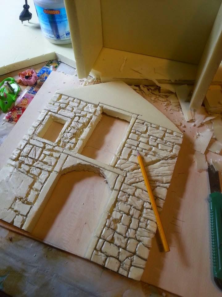 come costruire un presepe con fogli di polistirene