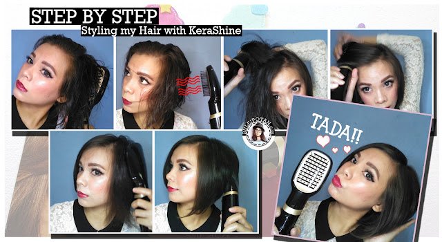 Step Step Penggunaan KeraSHine Air Styler aga rambut Rapi, Kering Merata dan BerVolume