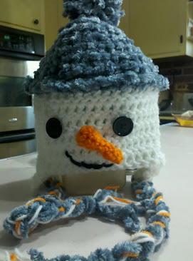 Big Boy Blue Snowman