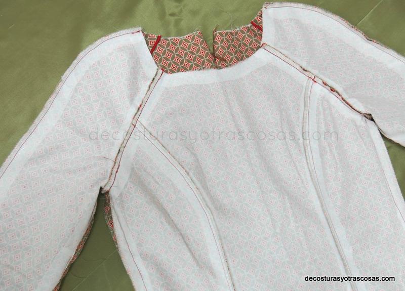 reforzar las costuras con fliselina