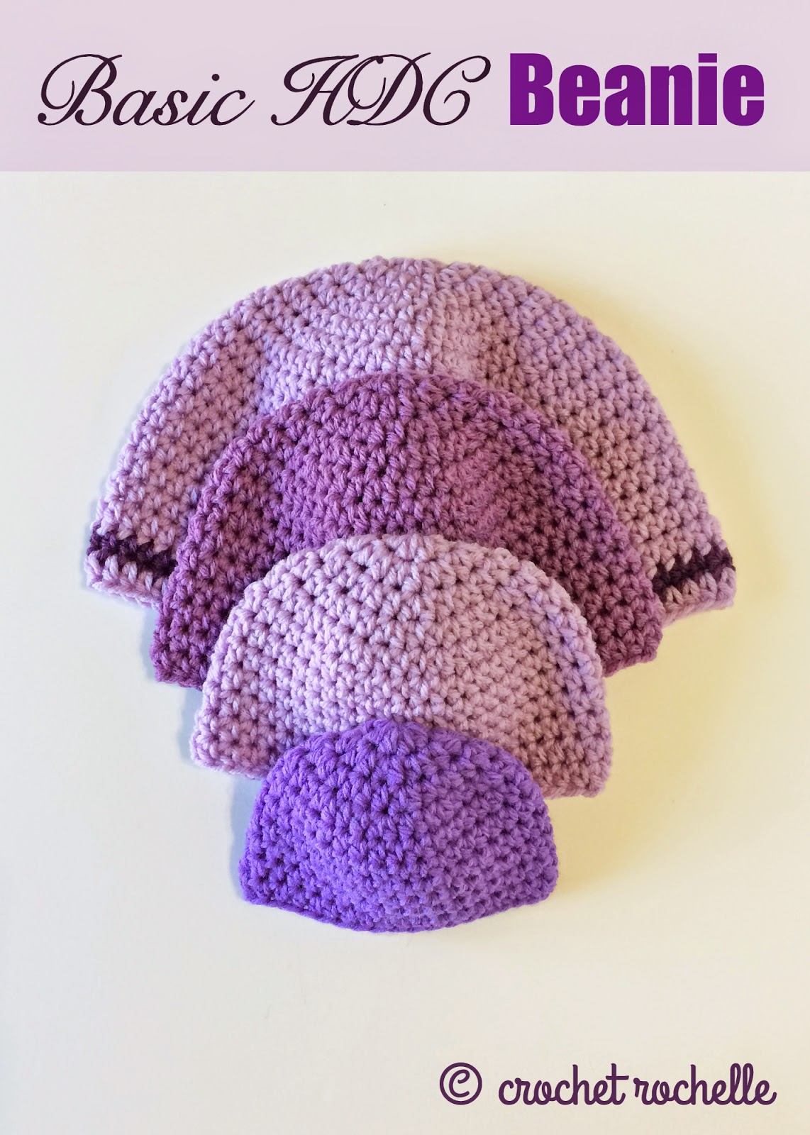 ... pattern for a basic half double crochet beanie this past wednesday the
