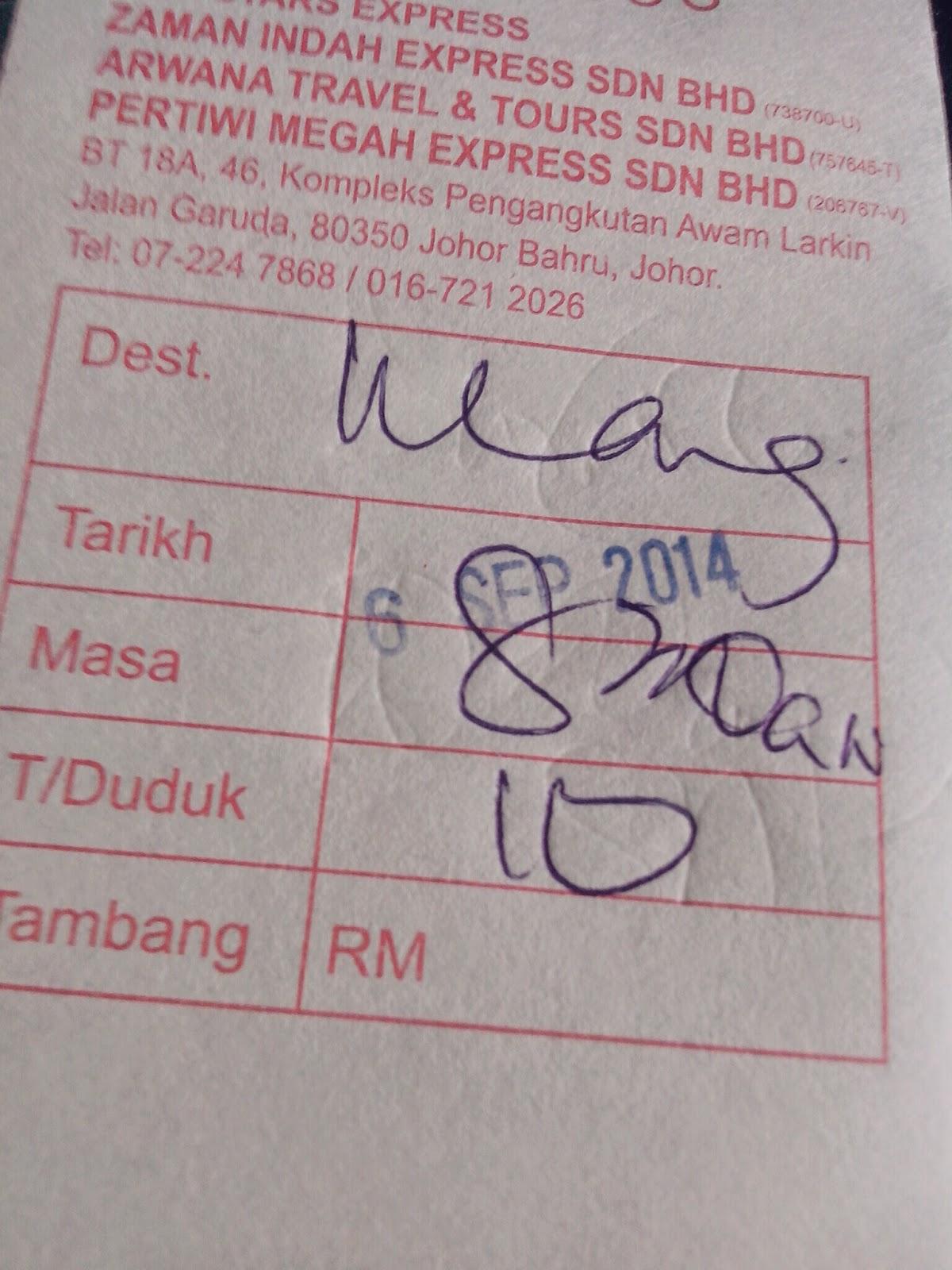 tiket bus punya cerita II