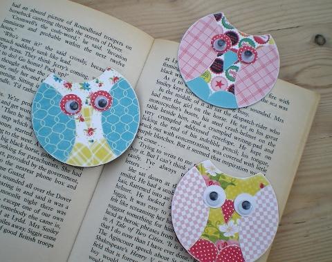 owl bookmarks how to blush crafts. Black Bedroom Furniture Sets. Home Design Ideas