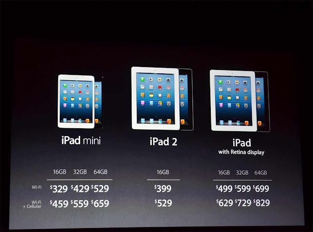 Harga Tablet Apple, iPad Mini dan iPad 4