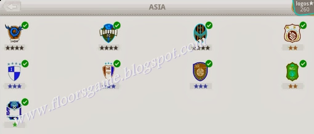 Logo Quiz Football Clubs Asia Level 11