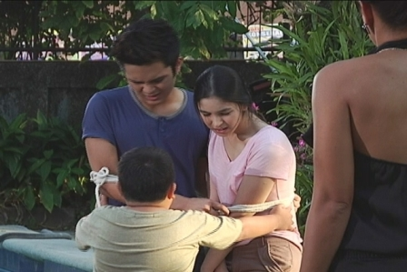 Julia and Julian with Clarence Delgado and Mylene Dizon in Wansapanataym
