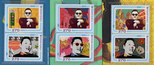 Sellos de PSY emitidos por Corea del Sur en 2013