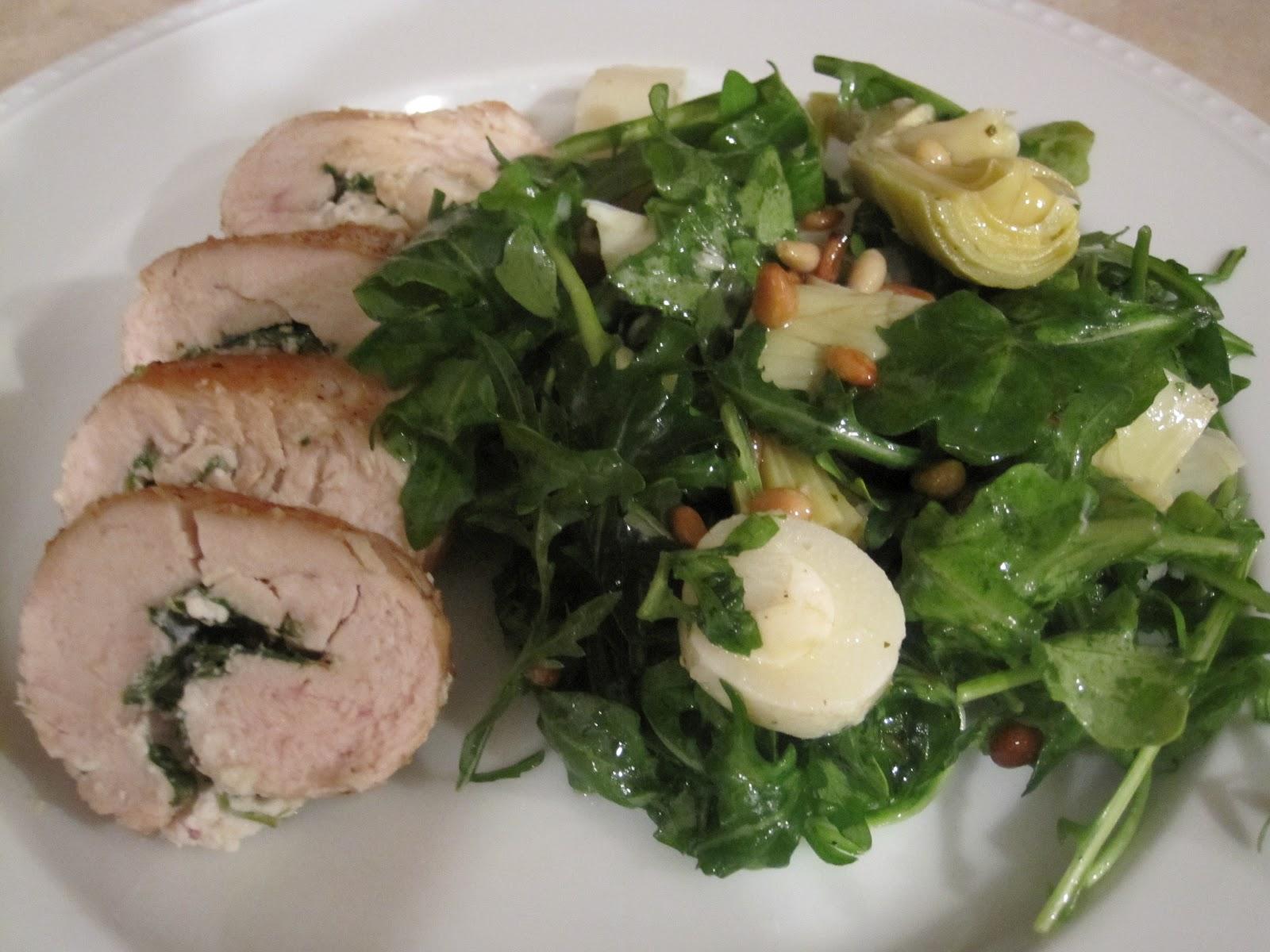 diet schmiet!: Chicken with Goat Cheese and Arugula