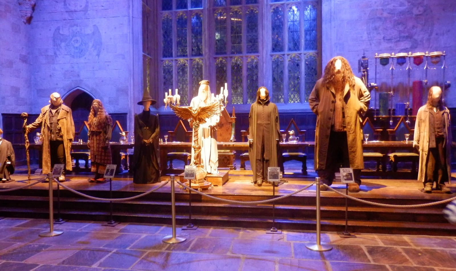 Harry Potter Warner Brothers Studio Tour London Costumes in The Great Hall