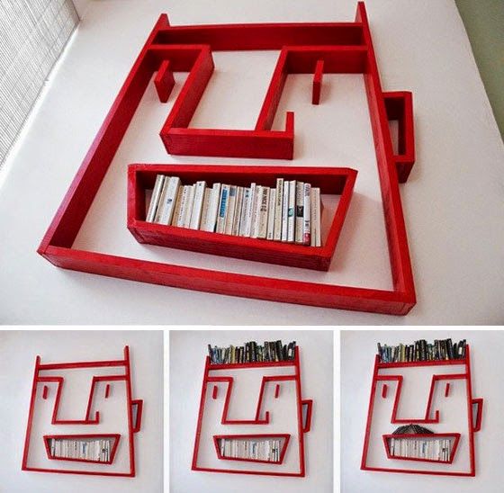 Human face shape book shelves