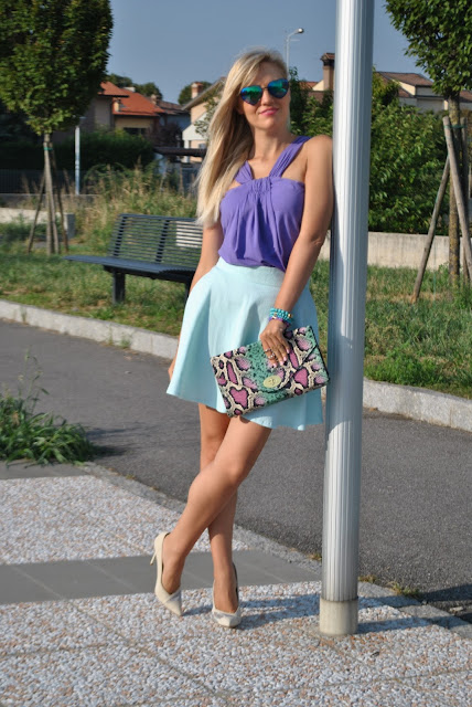 mariafelicia magno fashion blogger outfit estivi outfit agosto 2015 come vestirsi in estate blogger di moda fashion blog italiani fashion blogger italiane ragazze e tacchi ragazze bionde bionde con i tacchi gonna e tacchi abbinamento gonna e tacchi summer outfits blonde girls skirt and heels how to wear skirt and heels