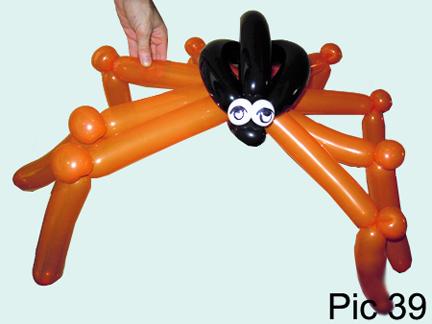 balloon spider - Halloween Balloon Animals