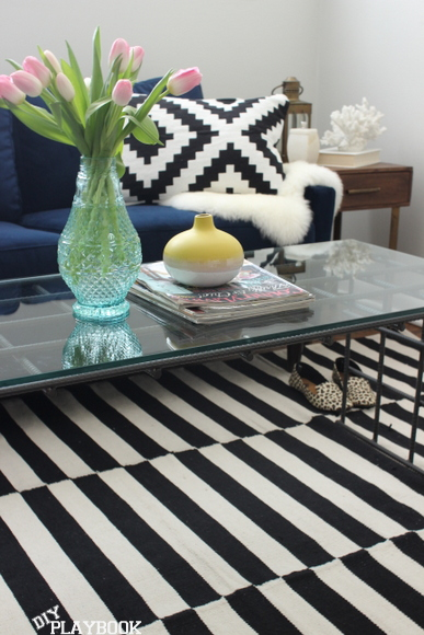 This sofa and coffee table are great additions