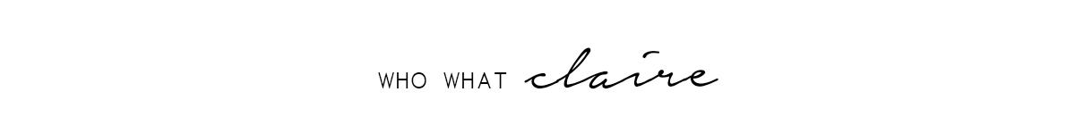 WhoWhatClaire - UK Fashion & Lifestyle Blog