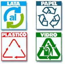 reciclado de productos cotidianos como latas, papel, vidrio y plastico