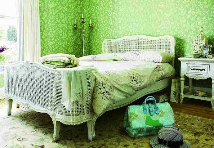 vintage green bedroom ideas