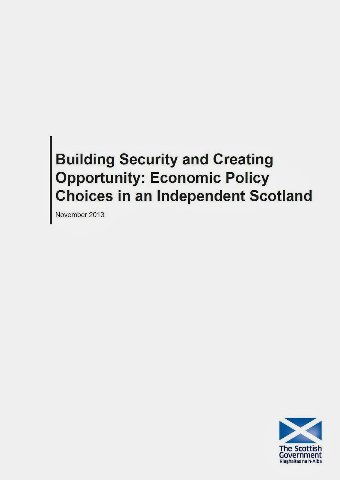 Economic Policy Choices in Independent Scotland
