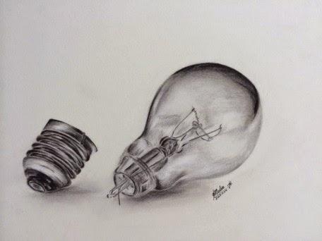 Light Bulb Pencil Drawing Artist Nalin Members Drawing Pencil