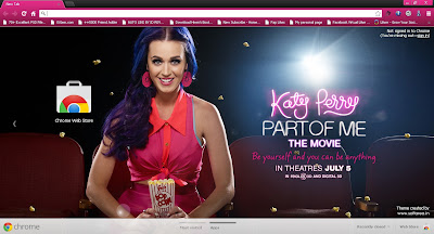 Katy Perry Part of Me Google Chrome Theme