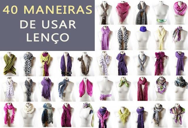 40 maneiras de usar lenço