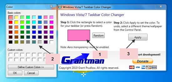 how to change the color of your windows 7 taskbar