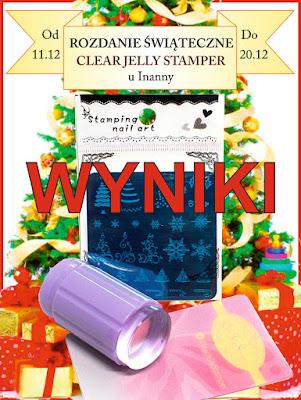 !!! WYNIKI !!! ROZDANIE ŚWIĄTECZNE CLEAR JELLY STAMPER / CHRISTMAS GIVEAWAY !!! RESULTS!!!