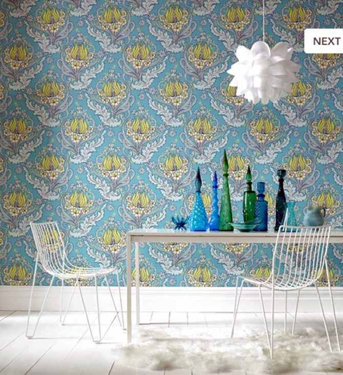 This Floral Wallpaper Brings Vitality And Liveliness To Minimalistic Dining Room