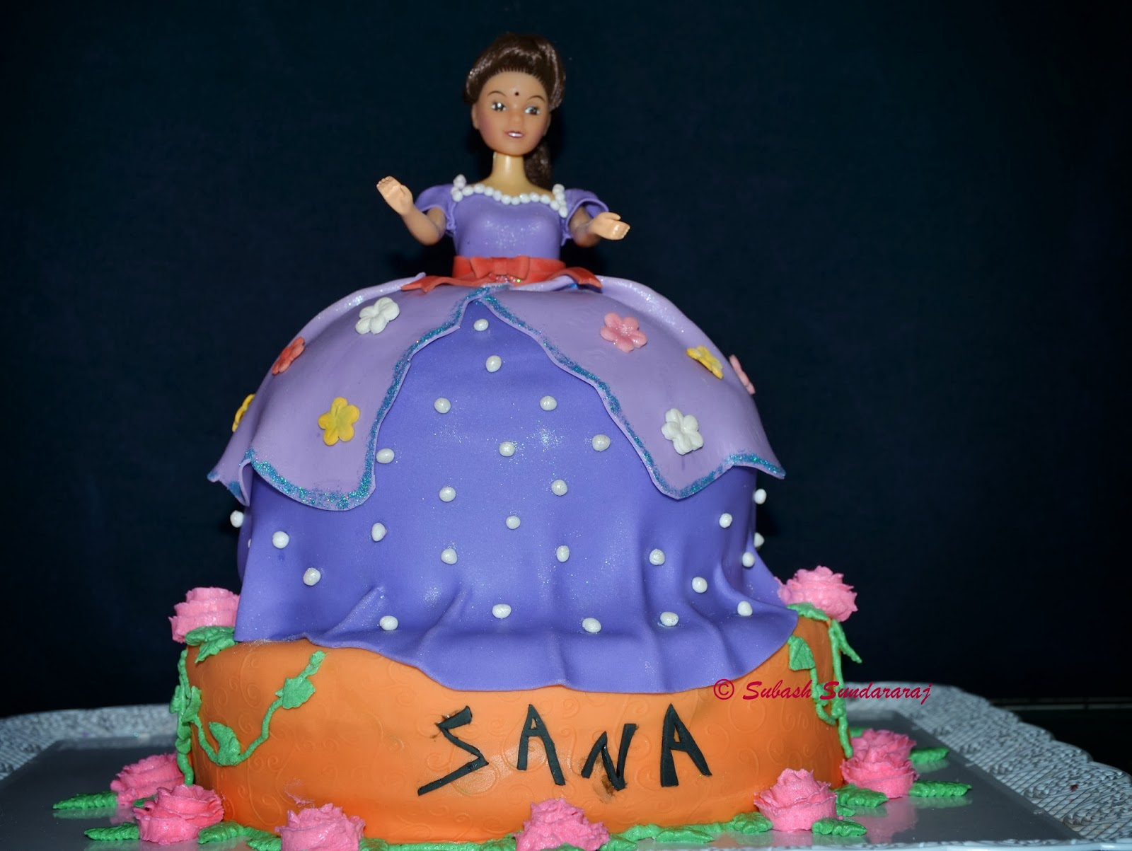 My Passion For Cooking Barbi Doll Birthday Cake