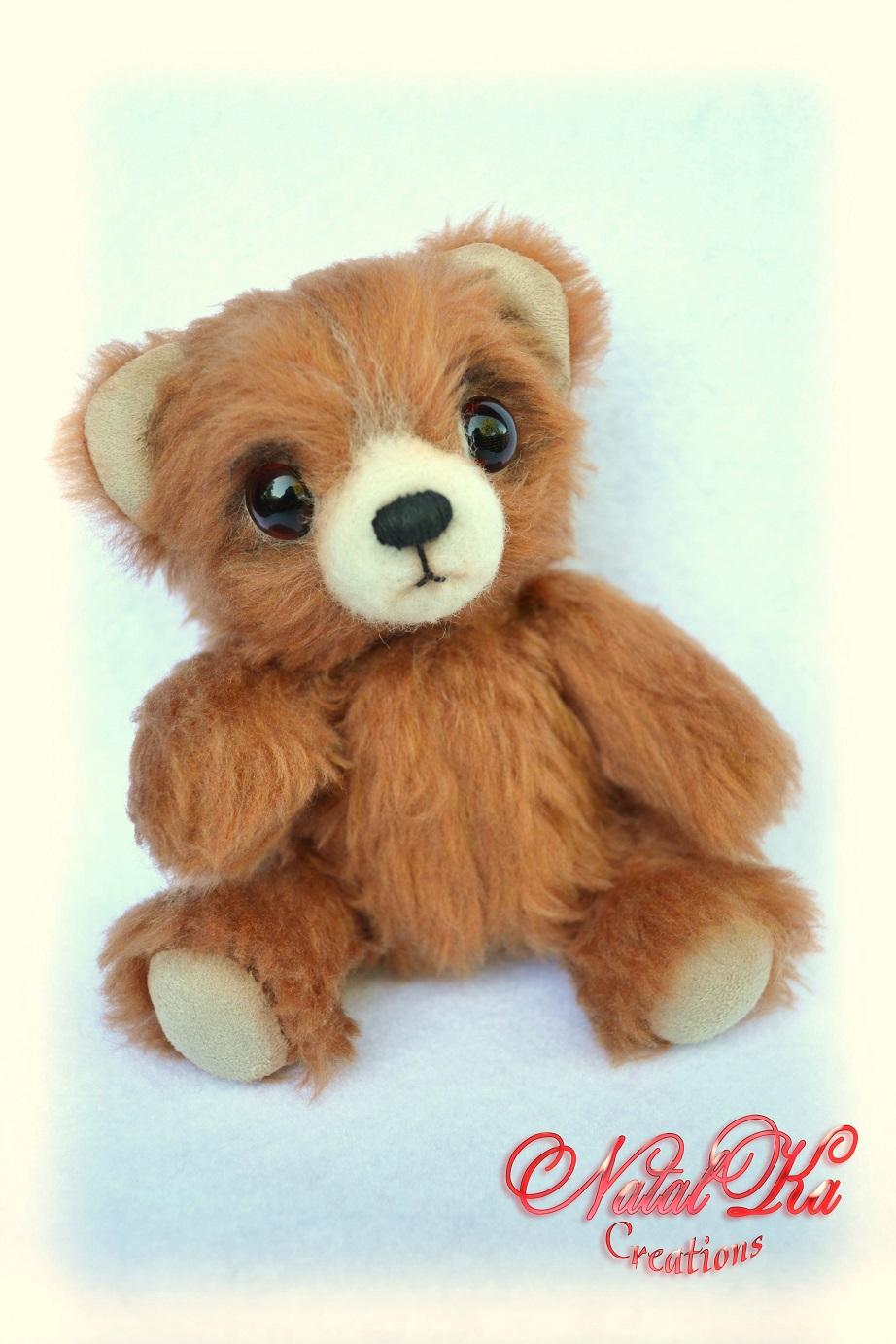 Künstler Teddy Bär von NatalKa Creations. Artist teddy bear handmade by NatalKa Creations