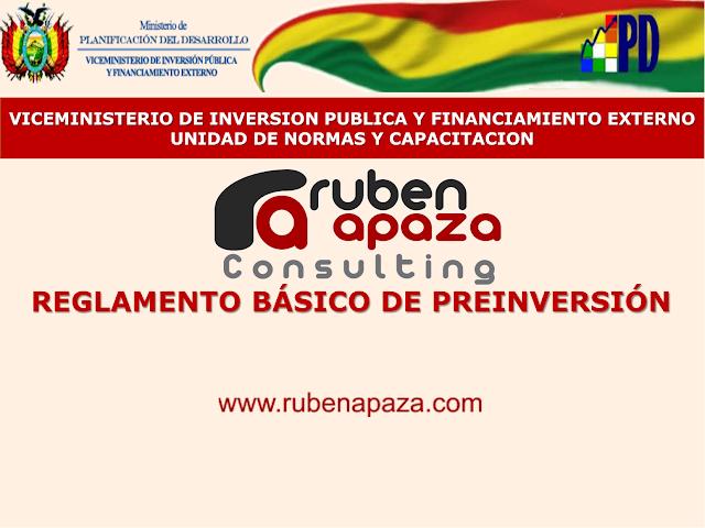 Reglamento Basico de PreInversion de Bolivia