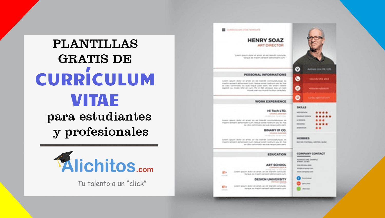 Plantillas gratis para tu curriculum vitae ~ Alichitos
