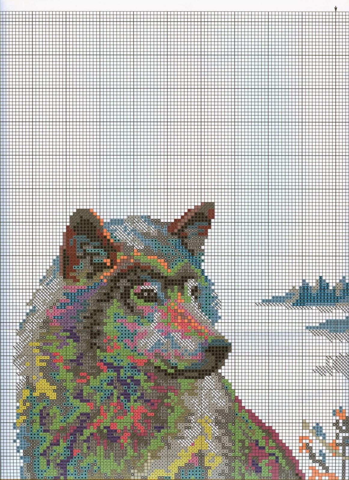 вышивка крестом белоснежка два волка схемы